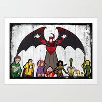 dungeons and dragons Art Prints featuring DUNGEONS & DRAGONS by Zorio