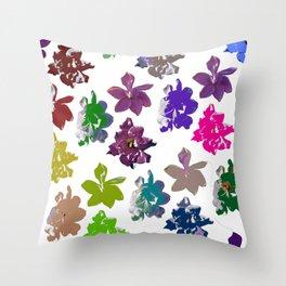 Gardenias in Color [Cecilia Lee] Throw Pillow