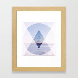 Greater//Less Framed Art Print