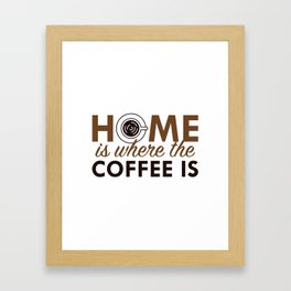 Home Is Where The Coffee Is Framed Art Print