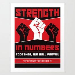 Strength In Numbers Art Print
