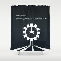 interstellar Shower Curtains featuring Interstellar by Duck Cartel