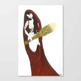 The Lady Demeter, Earth Mother Canvas Print
