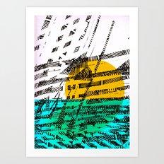 - the sunset - Art Print
