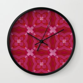 ornament red pink Wall Clock