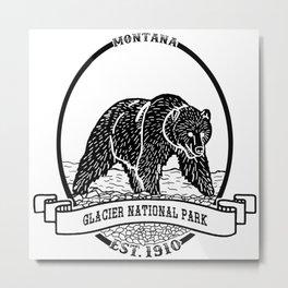 Glacier National Park Emblem Metal Print
