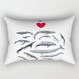 I love whales design Rectangular Pillow