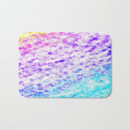 Totally Awesome 80s Colorful Ombre Bath Mat
