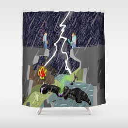 The Final Confrontation Shower Curtain