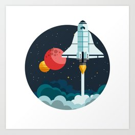 Exploring space Art Print