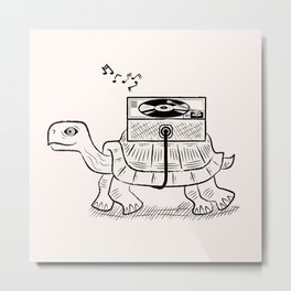 Tortoise Wax Metal Print