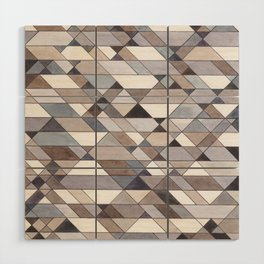 Triangle Pattern no.22 grays Wood Wall Art