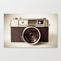 vintage camera Canvas Prints featuring Camera by Tuky Waingan