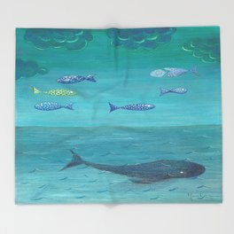 Over the sea Throw Blanket