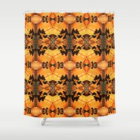 carl sagan Shower Curtains featuring A Tribute to Carl by Robin Curtiss