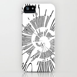 Lorem Ipsum (Black) iPhone Case
