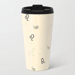 Leo Pattern - Beige Travel Mug