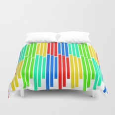 Statistically Colored Bars Duvet Cover