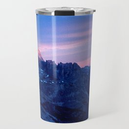 Romantic Sunset in the Snowy Mountains #2 #art #society6 Travel Mug