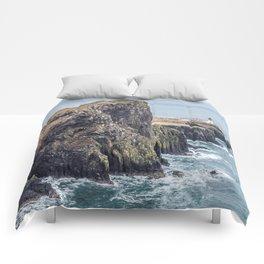 Lighthouse rock ocean Comforters