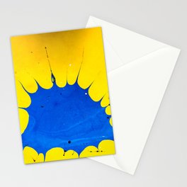 Thought Bubble Marble Painting Stationery Cards