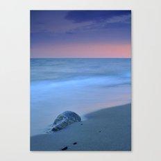 Hidden stone at sunset Canvas Print