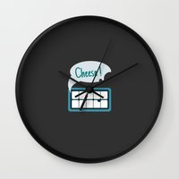 cheese Wall Clocks featuring Cheese~ by YHorng