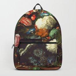 Vase of Flowers II - de Heem Backpack