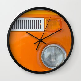 ORANGE BLANC NOIR Wall Clock