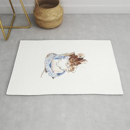 Mrs Mouse and baby Peter Rabbit  Beatrix Potter Rug