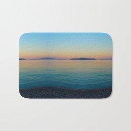 Sunset Greek Island Bath Mat