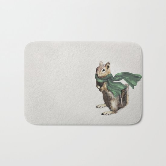 Winter Chipmunk Bath Mat