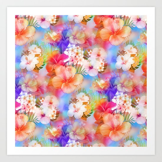 Tropical Hawaiian Garden Art Print
