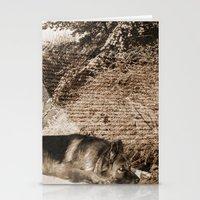 german shepherd Stationery Cards featuring German Shepherd by Erika Kaisersot