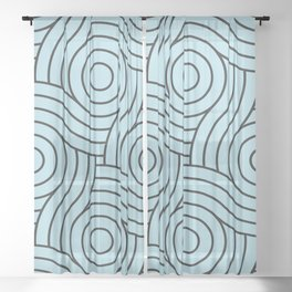 Circle Swirl Pattern Blue Inspired By Healing Aire Blue - Angelic Blue - Soothing Blue Sheer Curtain