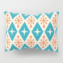 Mid Century Modern Atomic Triangle Pattern 107 Pillow Sham