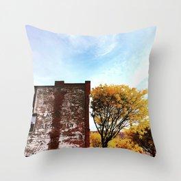 Autumn Ghost Sign - Beacon NY Throw Pillow
