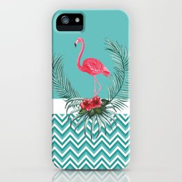 Retro Style Flamingo iPhone Case