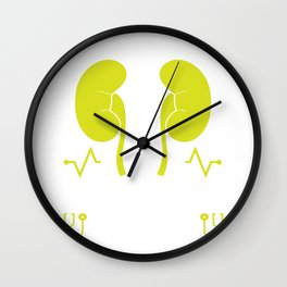 Dialysis Technician design for Men & Women Wall Clock