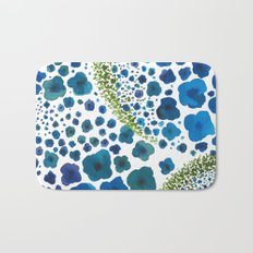 Paths of Color [Turquoise, Blue and Green] Bath Mat
