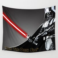 darth vader Wall Tapestries featuring Darth Vader by KL Design Solutions