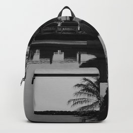 Tropical Reflection (Black and White) Backpack