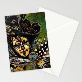 Bauta Mask, Carnival, Venice, Italy Stationery Cards