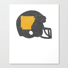 State of Shape of Arkansas Football Helmet Canvas Print