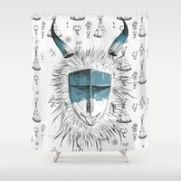 mask Shower Curtains featuring Mask by cihandag