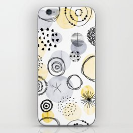Watercolour Circles | Grey and Yellow Palette iPhone Skin