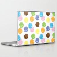 macaron Laptop & iPad Skins featuring Macaron Frenzy by April Marcuzzo