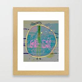 GRL PWR, Alissia World Framed Art Print
