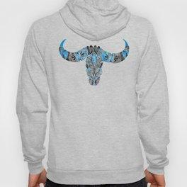 Water Buffalo Skull – Black & Blue Hoody