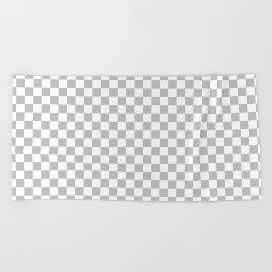 Checker (Silver/White) Beach Towel